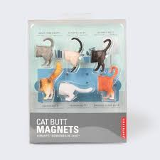 Kikkerland Cat Butt Magnets Set Of 6