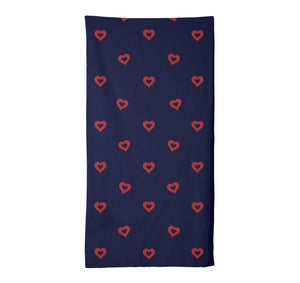 Donut Hearts Towel