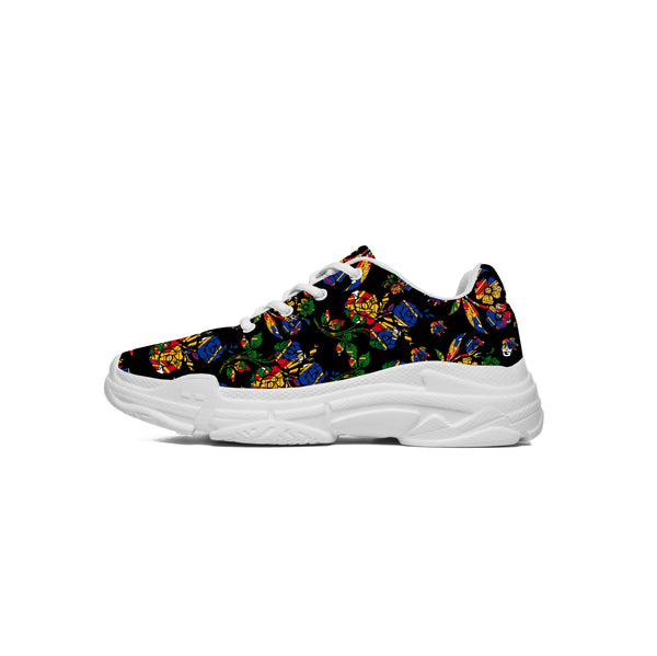 TMMG HAITI'S FAVORITE FLOWERS CHOUBLAK BLACK SNEAKERS