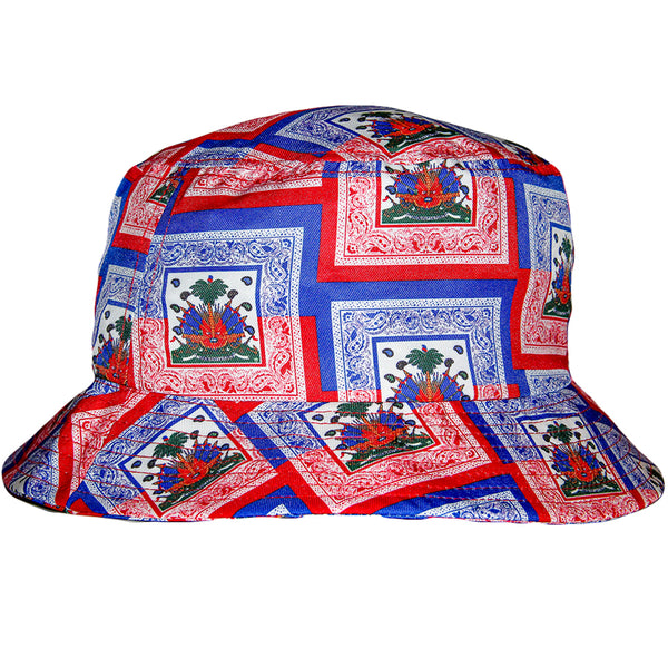 TMMG Haitian Flag Bandana All Over Bucket Hat
