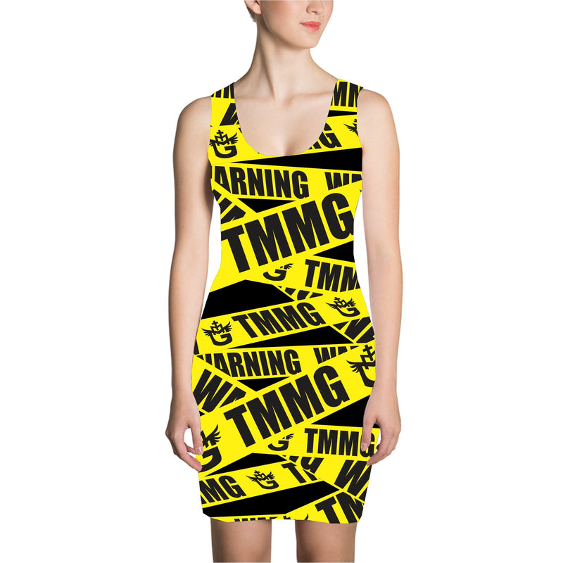 TMMG YELLOW TAPE DRESS