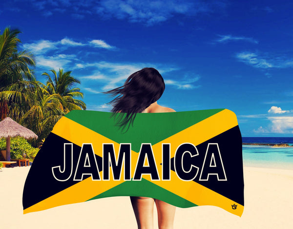 TMMG JAMAICAN FLAG BEACH TOWEL