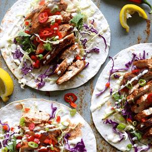 Rendang Chicken Tacos