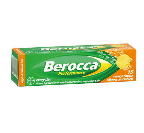 Berocca Performance Orange Effervescent Tablets 15PK