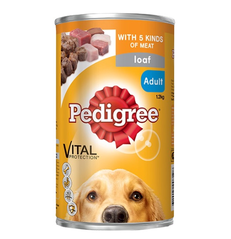 Pedigree 5 Kinds of Meat Loaf Wet Dog Food 1.2KG