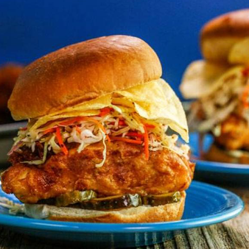 Battered Snapper Burger