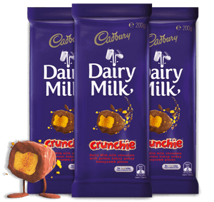 "Cadbury Milk Chocolate ""Crunchie"" 200g"