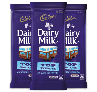 Cadbury Dairy Milk 'Top Deck' 200g