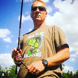 Size Matters Bass Men's Fishing Tee - Army