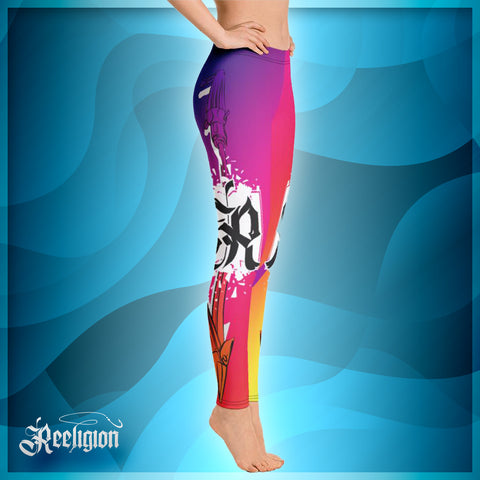 Lollipop Spear Fishing Low Rise Leggings - Reeligion