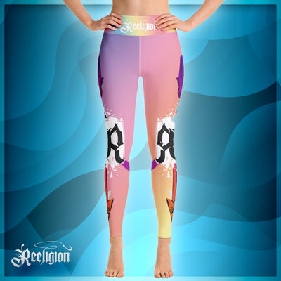 Pastel Lollipop Spear Fishing High Rise Leggings - Reeligion