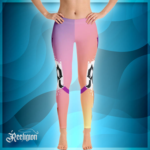 Pastel Lollipop Spear Fishing Low Rise Leggings - Reeligion