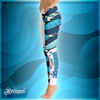 "Pure White ""Schools In"" Fishing Leggings - Reeligion"