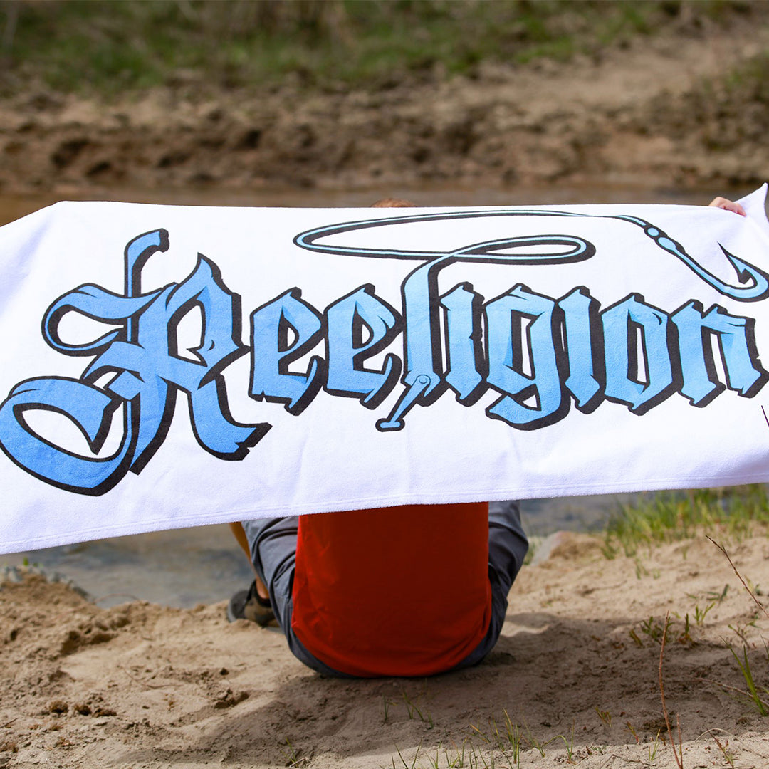 Sublimated Fishing Beach Towel