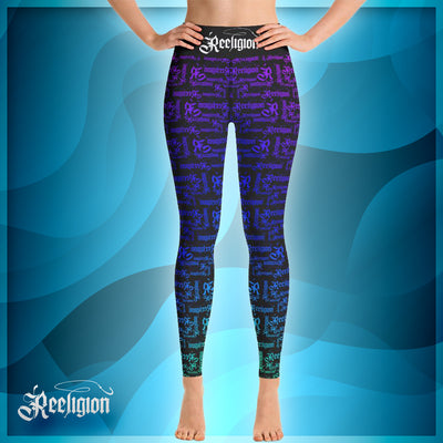 Rainbow Pattern Hi Rise Womens Fishing Leggings - Reeligion