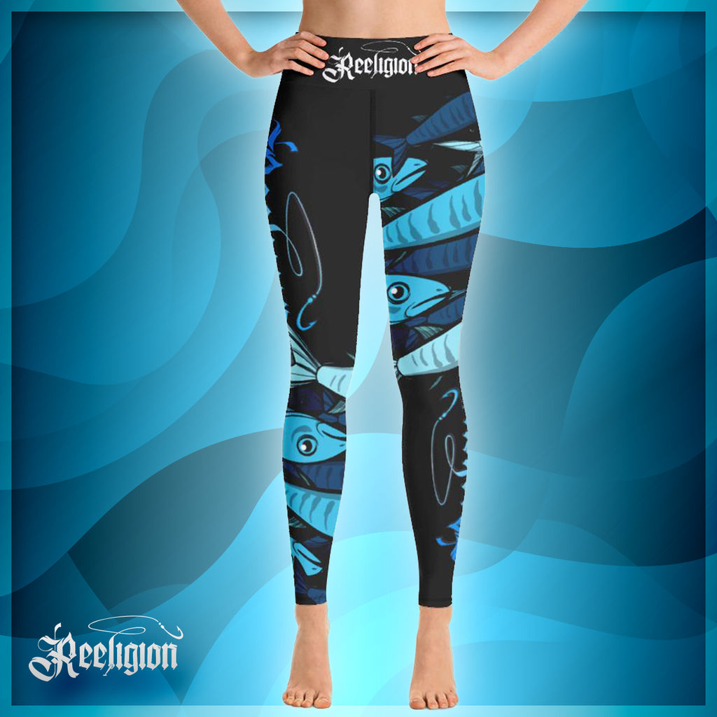 Black Licorice Schools In Hi Rise Womens Fishing Leggings