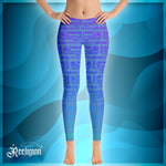 Blue Sky Rainbow Pattern Fishing Leggings