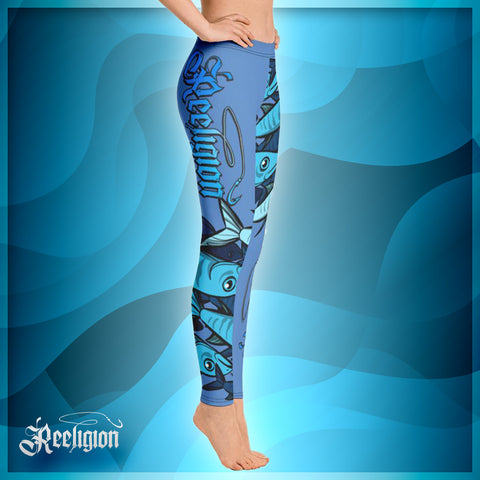 "Blue Sky ""Schools In"" Womens Fishing Leggings - Reeligion"