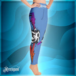 Blue Sky Spear Fishing Hi Rise Womens Leggings