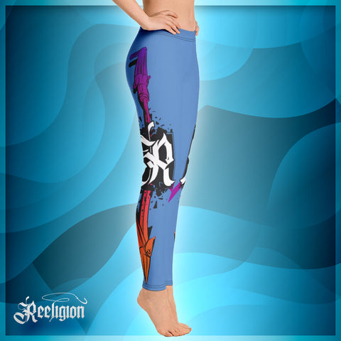 Blue Sky Spear Fishing Womens Leggings - Reeligion