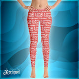 Fiesta White Pattern Womens fishing Leggings