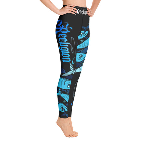 Black Licorice Schools In Hi Rise Womens Fishing Leggings - Reeligion