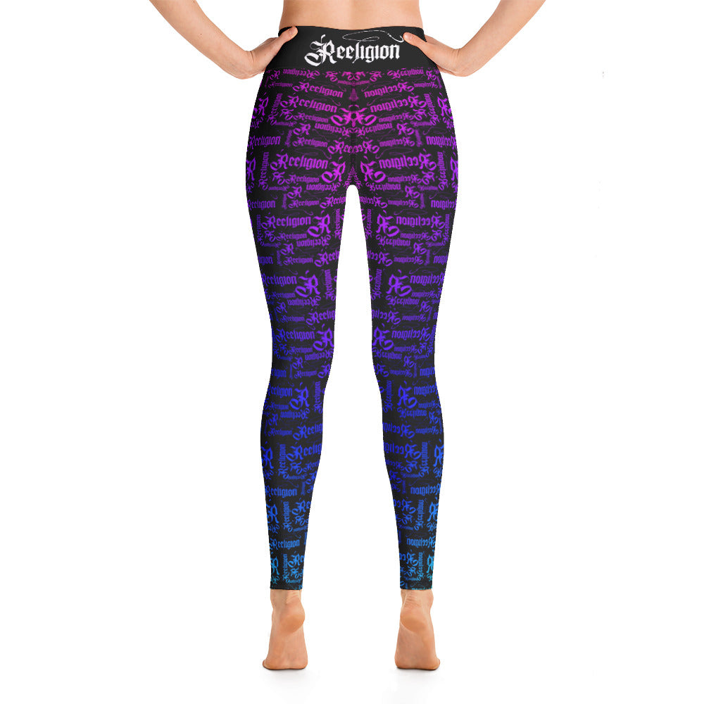 Rainbow Pattern Hi Rise Womens Fishing Leggings