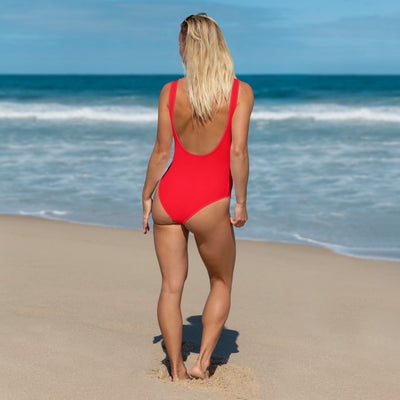 Striped Red One-Piece Fishing Swimsuit - Reeligion