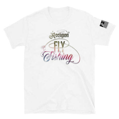 Rainbow Trout Fly Fishing Unisex Tee White