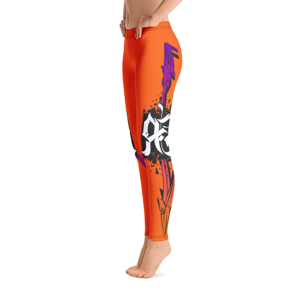 Tiger Orange Spear Fishing Women's Leggings