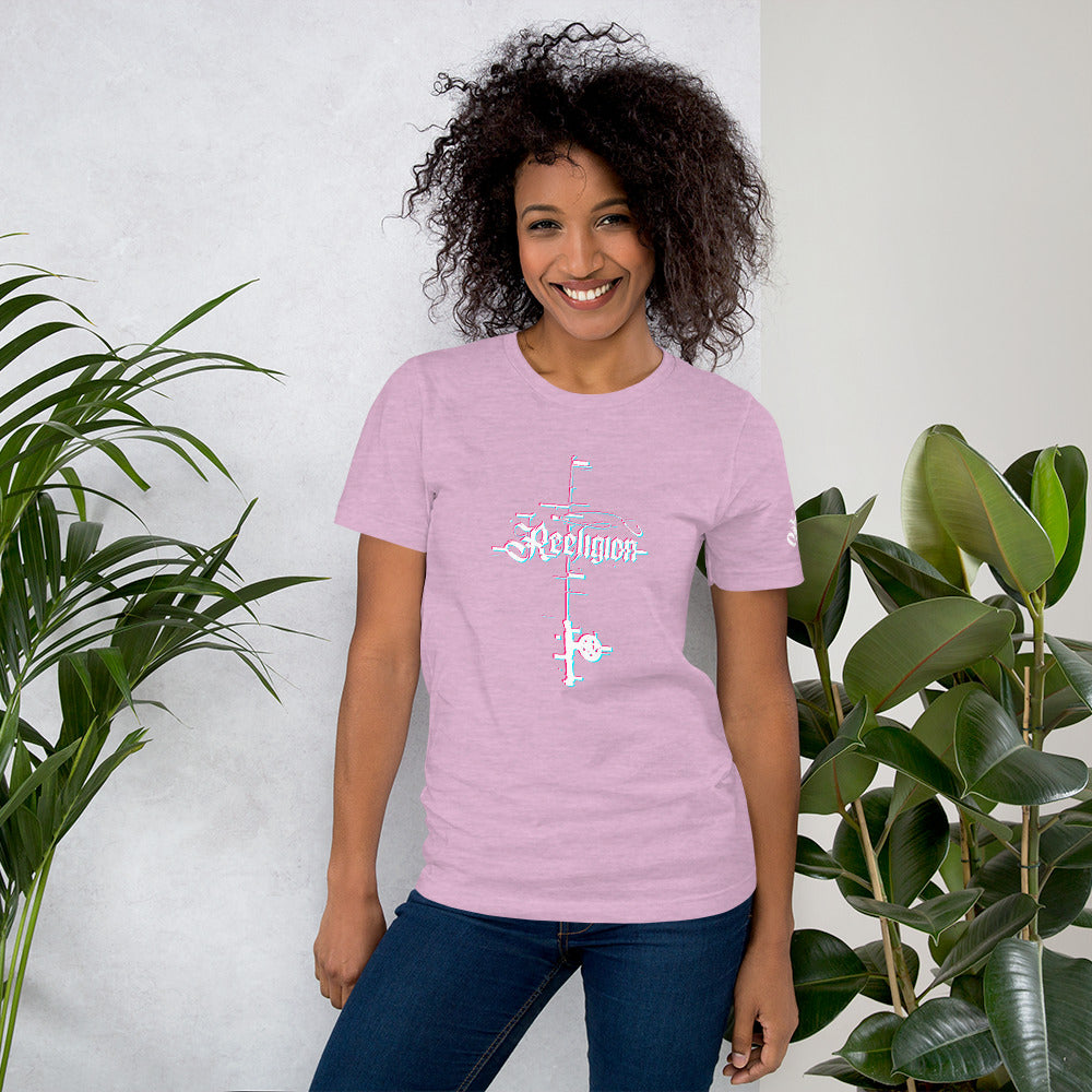 3D Fishing Rod Women's Fishing T-Shirt - Lilac