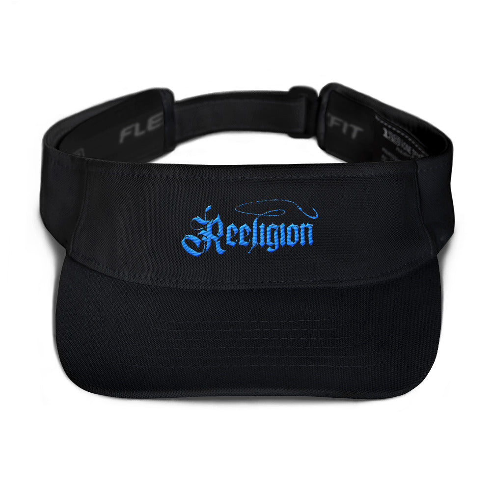 Blue Embroidered Fishing Visor