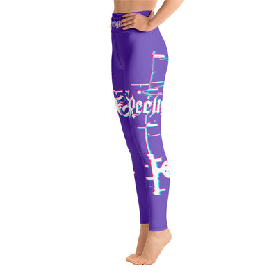 Royal Purple 3D Fishing Pole Hi Rise Leggings - Reeligion