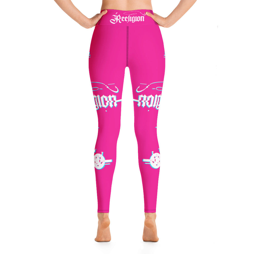 Sassy Pink 3D Fishing Pole Hi Rise Leggings