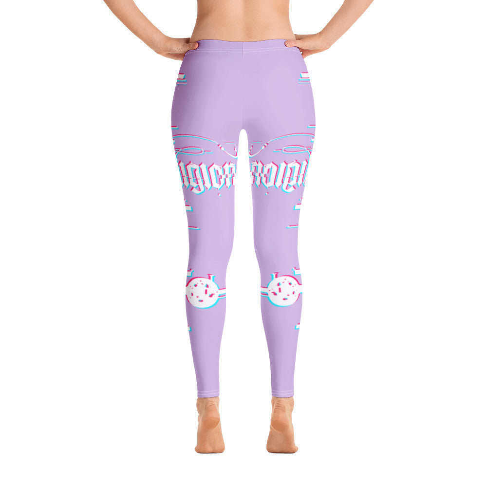 Sweet Lilac 3D Fishing Rod Womens Leggings - Reeligion