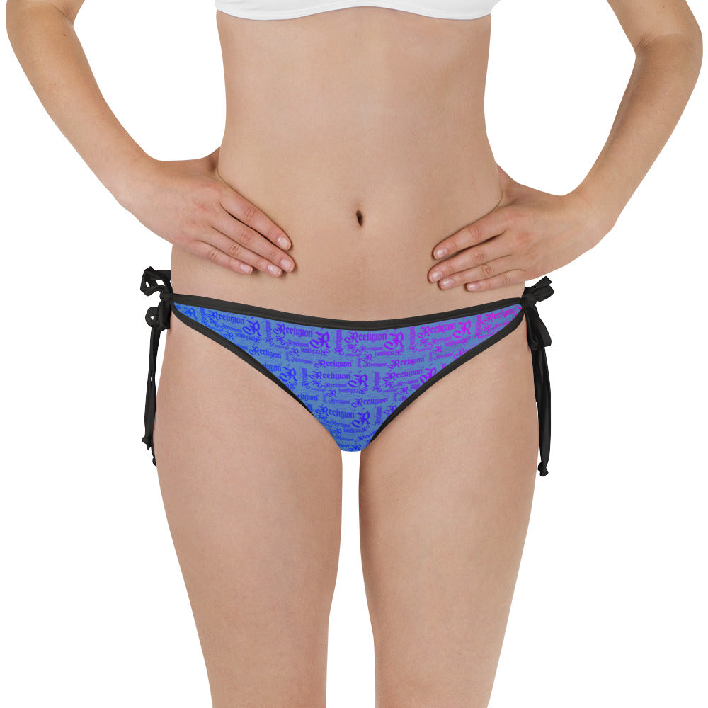 Blue Sky Reversible Fishing Bikini Bottom