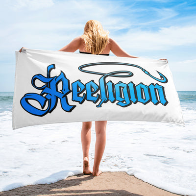 Sublimated Fishing Beach Towel - Reeligion