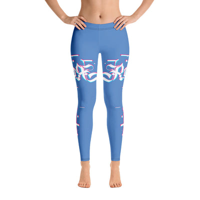 Blue Sky 3D Fishing Rod Womens Leggings - Reeligion