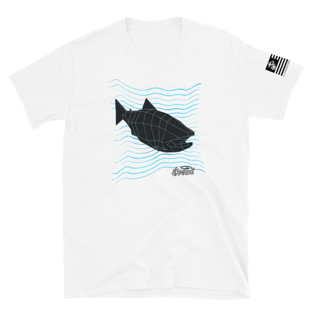 3D Fish Finder Short-Sleeve Unisex T-Shirt - Reeligion