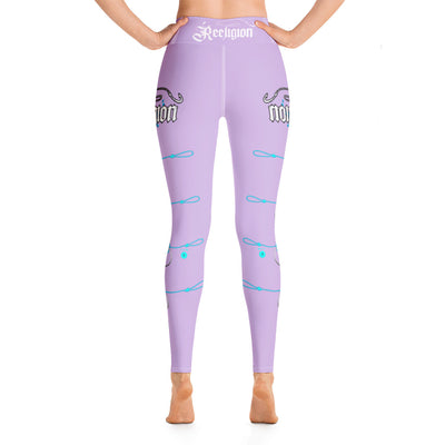 "Sweet Lilac ""Learn Your Knots"" Hi-Rise Leggings - Reeligion"