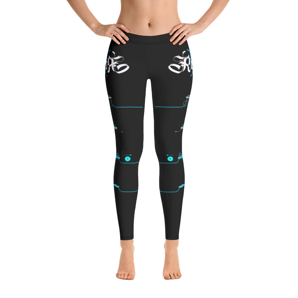 Black Licorice Learn Your Knots Fishing Leggings