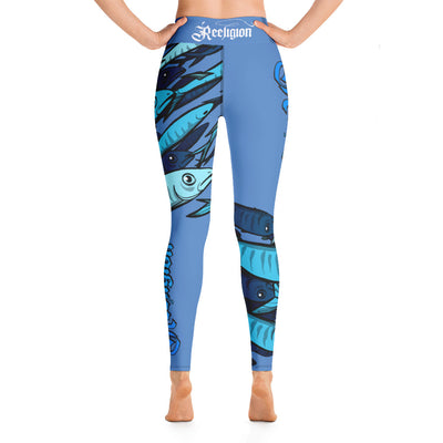 "Blue Sky ""Schools In"" Hi Rise Fishing Leggings - Reeligion"