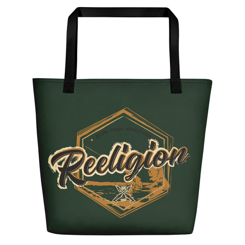 Dark Green Fishing Beach Bag