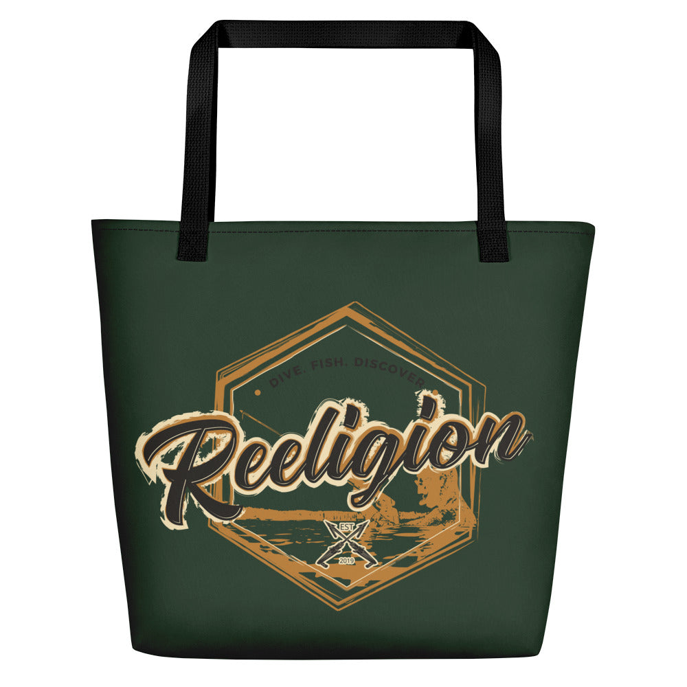 Dark Green Fishing Beach Bag - Reeligion