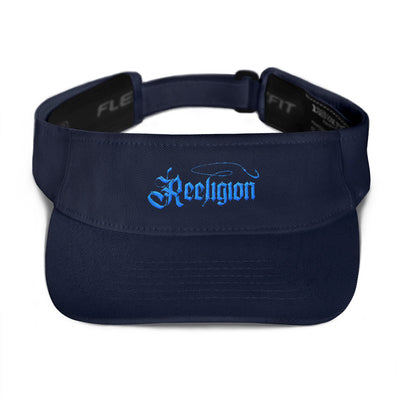 Blue Embroidered Fishing Visor - Reeligion