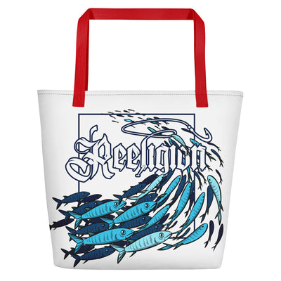 """Schools In"" Fishing Beach Bag - Reeligion"
