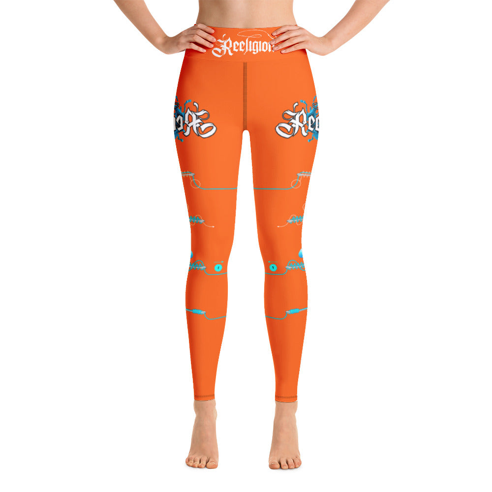 "Tiger Orange ""Learn Your Knots"" Hi-Rise Leggings - Reeligion"