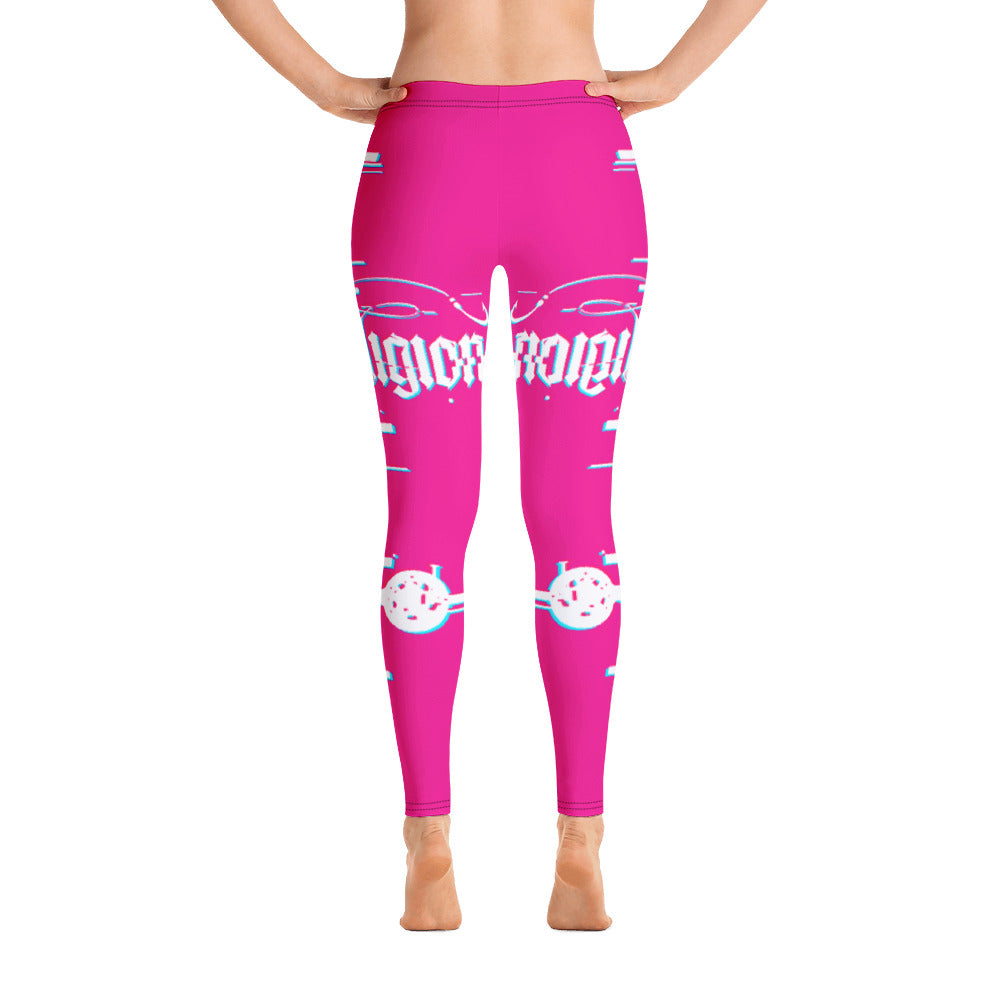 Sassy Pink 3D Fishing Rod Womens Leggings