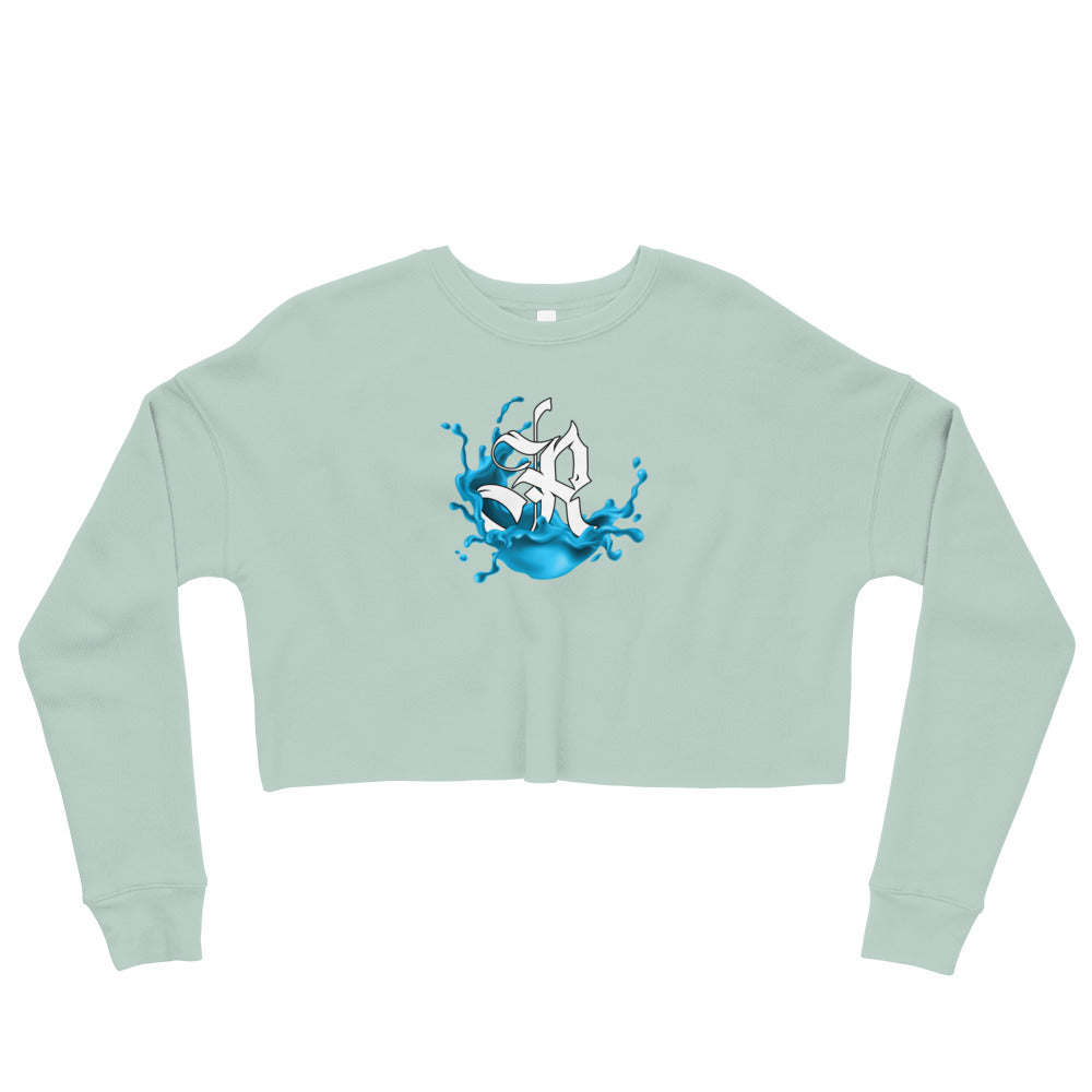 Splash Crop Fishing Sweatshirt - Dusty Blue
