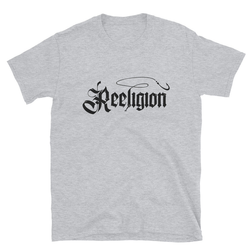 Black Logo Reeligion Fishing Tee